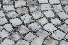 Free Cobblestones Freshly Laid And Close Up Royalty Free Stock Photography - 105813087
