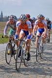 Cobblestones nel giro della Fiandre Fotografie Stock Libere da Diritti