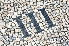 Cobblestones Number Royalty Free Stock Photo