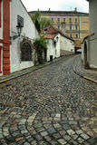 Cobblestones in the old town, Old Prague, Czech Republic Stock Photos