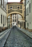 Cobblestones in the old town, Old Prague, Czech Republic Royalty Free Stock Image