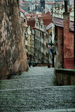 Cobblestones in the old town, Old Prague, Czech Republic Stock Photography