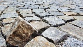 Cobblestones. One cobblestone out of line Stock Photos