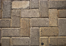 Cobblestones on the pavement. Royalty Free Stock Photo