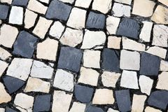 Cobblestones in Porto Royalty Free Stock Photos