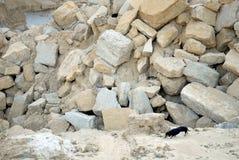 Cobblestones in a quarry Stock Image