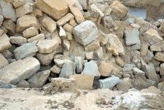 Cobblestones in a quarry Stock Photos