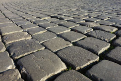 Cobblestones Rome Sampietrini Royalty Free Stock Photo