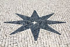 Cobblestones Star Royalty Free Stock Photography