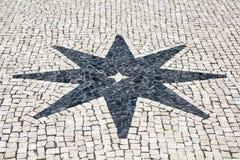 Cobblestones Star Royalty Free Stock Photography