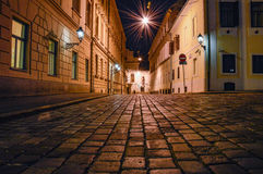 Cobblestones street Royalty Free Stock Images