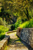 Cobblestones track in the Greenway path at Lago di Como Stock Photography