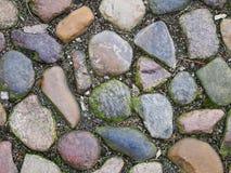 Cobblestones wet on the ground Stock Photos