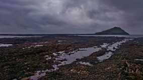 Cobbly strand i Gower Penninsula, Wales Arkivbilder