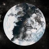 Coberto de neve na terra do planeta Fotografia de Stock Royalty Free