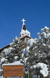 Coberto na neve fresca Fotografia de Stock Royalty Free