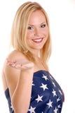 Coberto pela bandeira Imagem de Stock Royalty Free