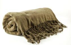 Cobertor acolhedor da franja fotos de stock