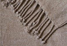 Cobertor acolhedor da franja Fotografia de Stock