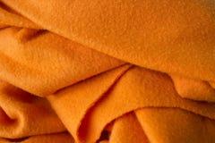 Cobertor alaranjado Fotos de Stock Royalty Free