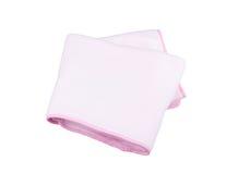 Cobertor cor-de-rosa do velo fotografia de stock royalty free