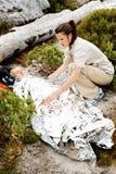 Cobertor da emergência Imagem de Stock Royalty Free