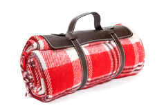 Cobertor embalado para o piquenique de domingo Fotos de Stock Royalty Free