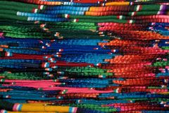 Cobertores coloridos Imagens de Stock