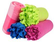 Cobertores. Isolado. Fotos de Stock
