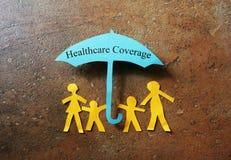 Cobertura de papel do heathcare da família Imagem de Stock Royalty Free