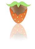 Cobertura do chocolate de Strawberrywith Foto de Stock Royalty Free