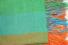 Cobertura e tear tecidos Fotografia de Stock Royalty Free