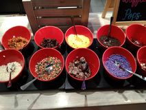Coberturas da sobremesa Foto de Stock Royalty Free