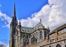 Cobh Cathedral. Country Cork in Ireland, springtime 2012 royalty free stock image