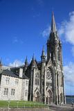 Cobh cathedral, titanic left. Titanic begun, the trip from here, part is scary as from lord of the ring scenery Stock Photos