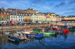 Cobh city in Ireland. Port and colorful houses in Cobh, Ireland. Famous city and popular touristic destination Stock Photo