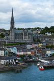 Cobh County Cork Color Lined Docks royalty free stock photos