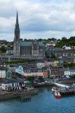 Cobh-Grafschaft Cork Color Lined Docks lizenzfreie stockfotos