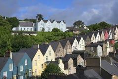 Cobh Häuser Lizenzfreie Stockfotos