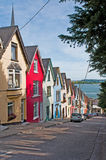 Cobh houses. Colorful houses called deck of cards in Cobh, Ireland Royalty Free Stock Photos
