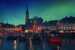 Cobh, Ierland bij nacht Royalty-vrije Stock Afbeelding