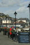 Cobh Ireland Harbor. View of harbor and homes from harbor pathway Royalty Free Stock Photo