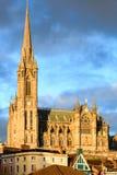 COBH IRLAND - NOVEMBER 26: Domkyrka för St. Colemans på November 26, 2012 i Cobh Irland Arkivfoton