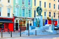 COBH, IRLANDA - 26 DE NOVIEMBRE: Monumento del Lusitania el 26 de noviembre de 2012 en Cobh Irlanda Foto de archivo