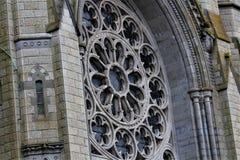 Cobh okręgu administracyjnego korek, Irlandia, Sierpień,/- 14 2018: Katedra święty Colman jest punktem zwrotnym bierze 47 rok uzu obraz stock