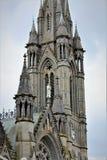 Cobh okręgu administracyjnego korek, Irlandia, Sierpień,/- 14 2018: Katedra święty Colman jest punktem zwrotnym bierze 47 rok uzu zdjęcia royalty free