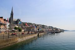 The Coastline of Cobh, Ireland royalty free stock images