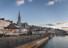 Cobh town in County Cork. A view from the town of Cobh,  a seaport town on the southern County Cork, Ireland Stock Image