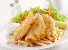 cuit à la friteuse Image libre de droits
