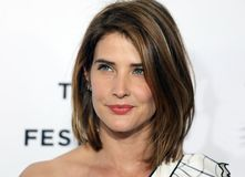 Cobie Smulders nachts Premiere am 17. Tribeca-Film-Festival Lizenzfreie Stockfotografie